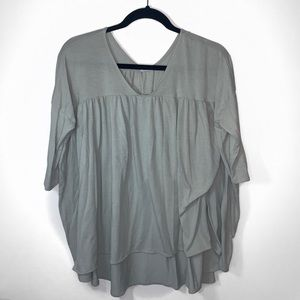 UO Kimchi Blue Mint Green Babydoll Top